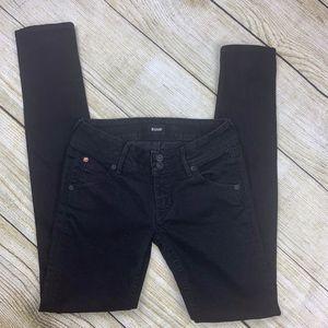 Hudson Colin Signature Flap Skinny Black Jeans